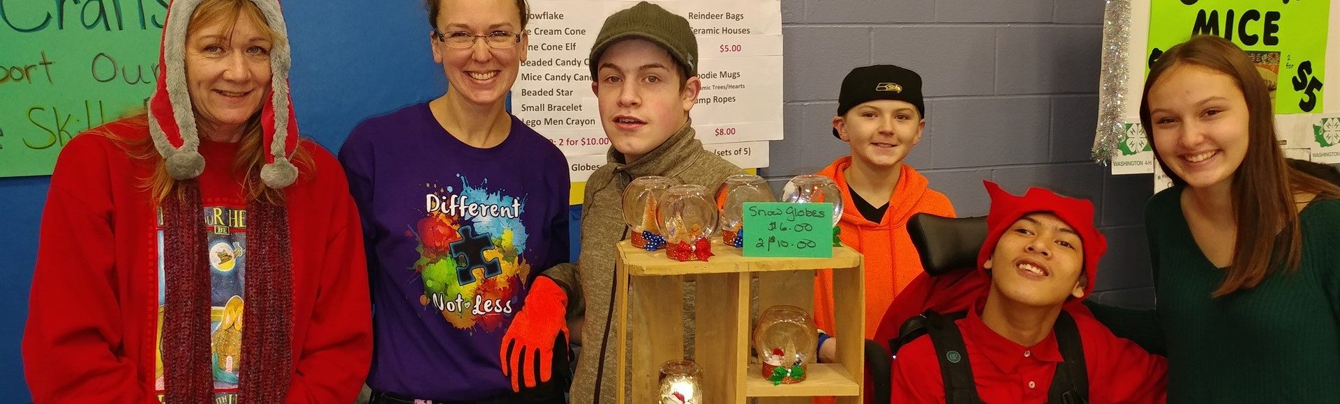 Life Skills Class selling items at Chimacum Arts & Crafts Fair December 2018