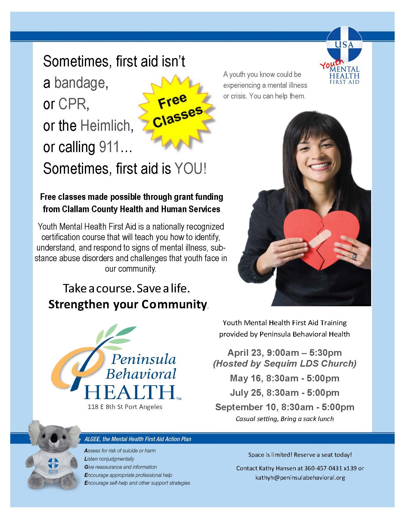 Youth Mental Health First Aid flyer