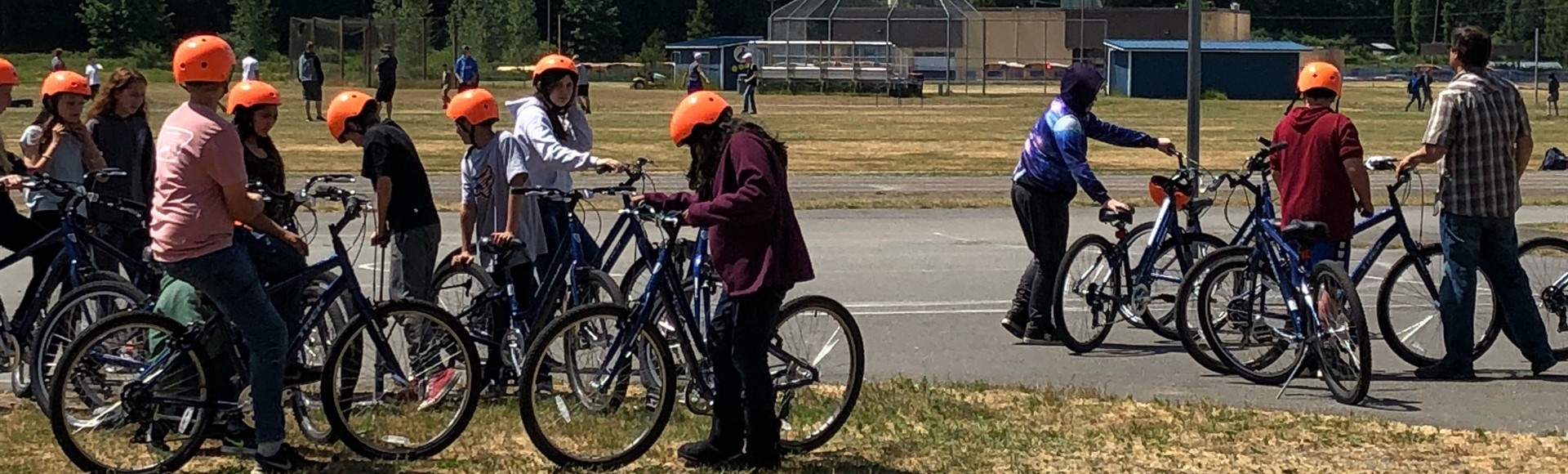 Shawn Meacham's PE Class on Bikes