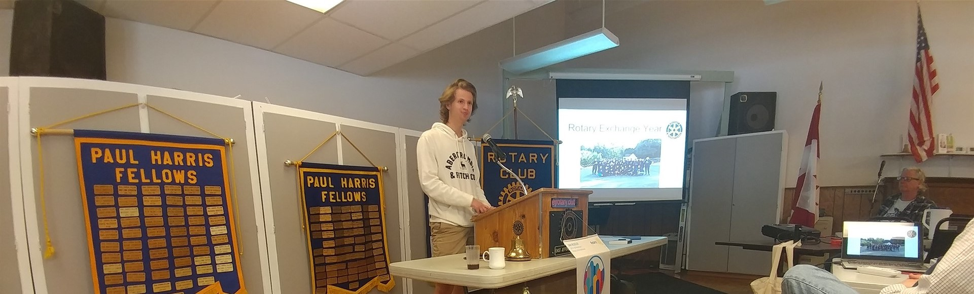 Croatian Exchange Student speaks at Rotary 5-31-18