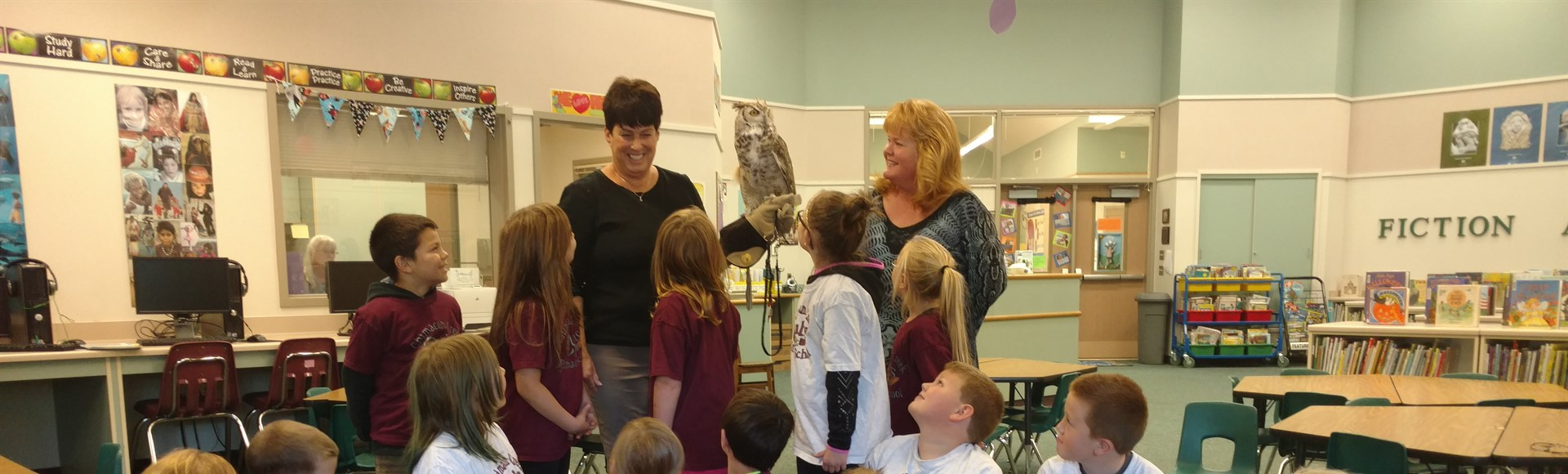 Birds of prey visit Chimacum Creek Primary