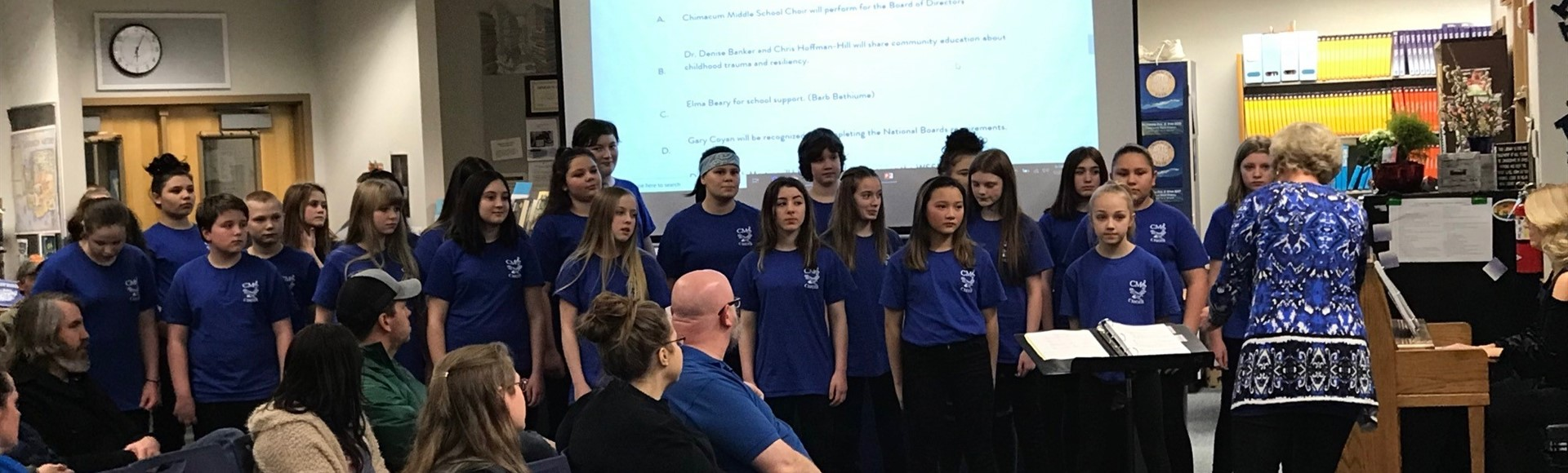 CMS Choir performs for CSD Board of Directors January 2019