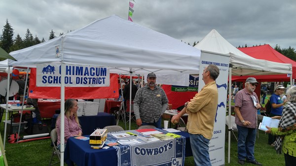 Chimacum School District Booth at the 2016 All County Picnic on August 21, 2016 at HJ Carroll Park.