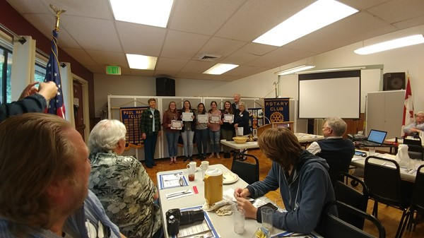 Knowledge Bowl Team recognized at Rotary