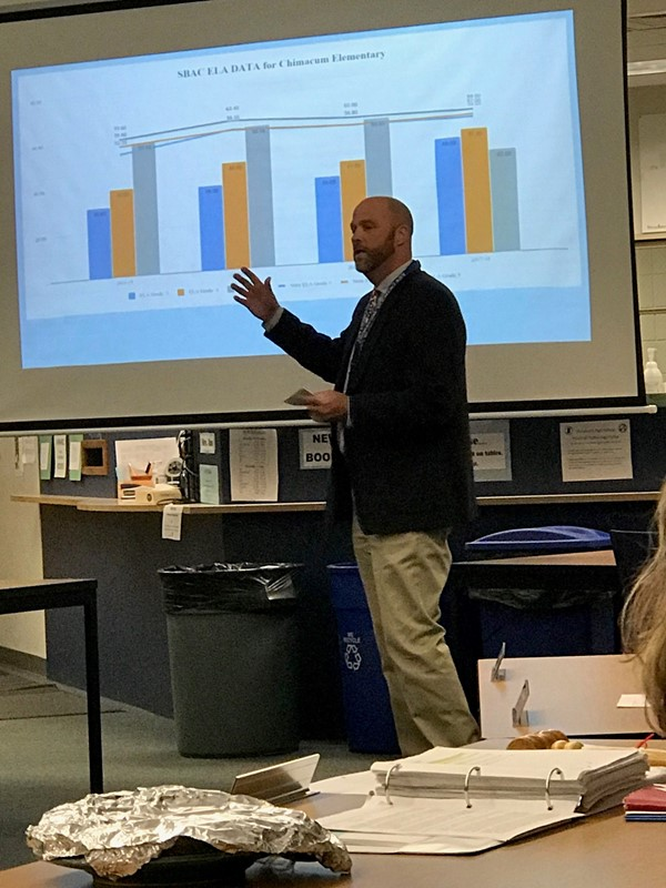 Mitch Brennan talks about CES test score data at 11-7-18 board meeting