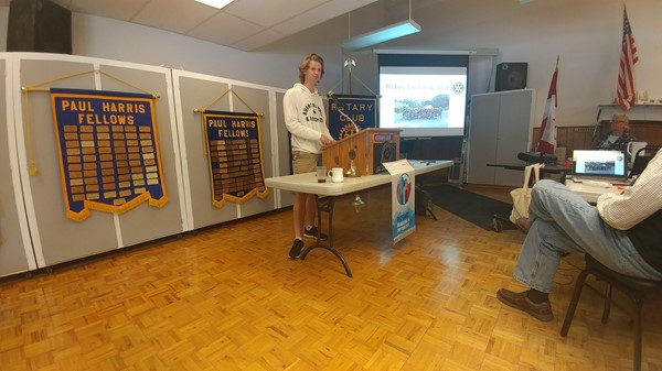 Croatian Exchange Student and Rotary 5-31-18