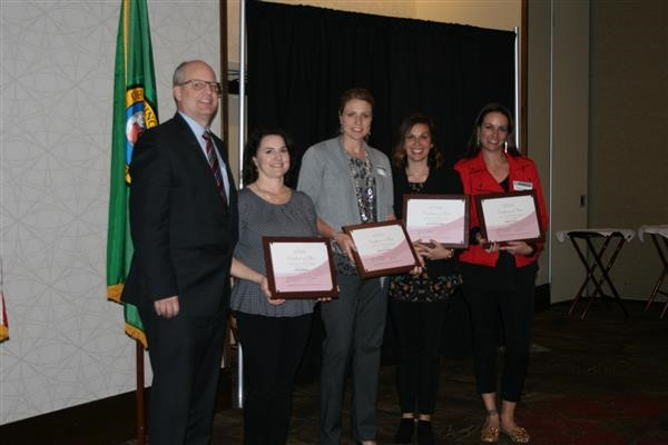 April 15, 2019 WASA Awards: Piper Diehl, Kelly Liske, Staci Matthes, and Nikki Casal